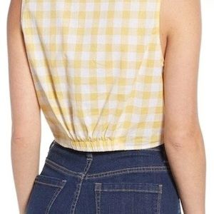 Lush Tops - Lush Checkered Tie Front Top • Size M